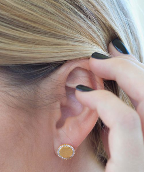 Athena Designs Presented by Selections | Brushed Gold Stud