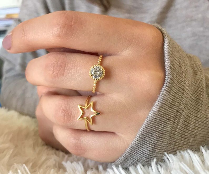 Athena Designs Presented by Selections | Gold Star Round Rings